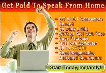 Paid To Speak banner